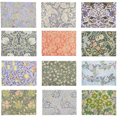 12 Pack William Morris Refrigerator Fridge Magnets Assorted Designs 3 5 X 2 Inches Each Target