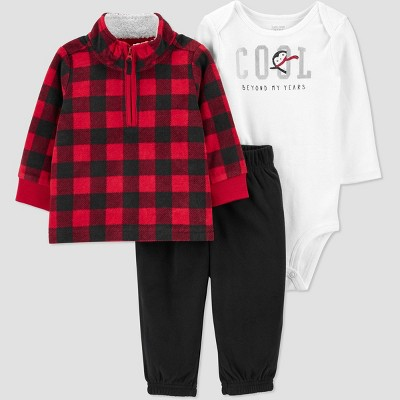 Baby Boys' Buffalo Plaid Top & Bottom Set - Just One You® made by carter's Red 3M