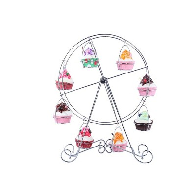 Juvale Ferris Wheel Cupcake Stand Dessert Display Holder for Carnival & Circus Party, Birthday, Wedding