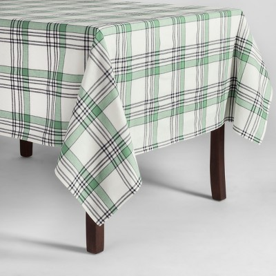 70 x52  Plaid Kitchen Textile Tablecloth Green - Threshold™