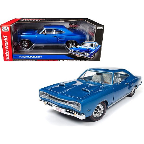 1969 Dodge Coronet R/T B5 Blue 50th Anniversary Limited Edition to 1002pcs Worldwide 1/18 Diecast Model Car by Autoworld - image 1 of 4