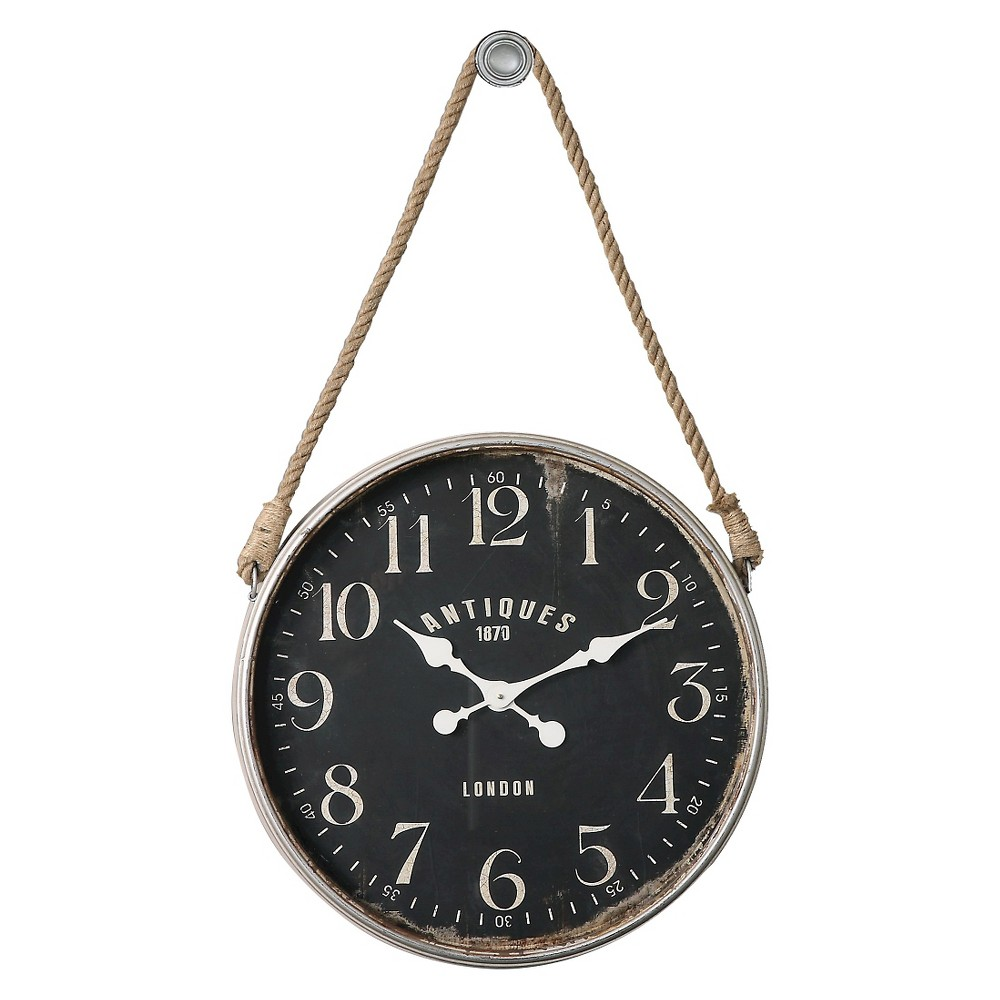 Image of Bartram Wall Clock Distressed White - Uttermost