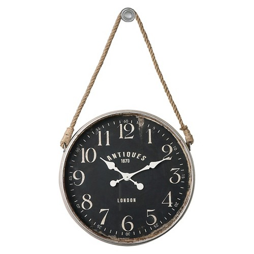 Bartram Wall Clock Distressed White - Uttermost