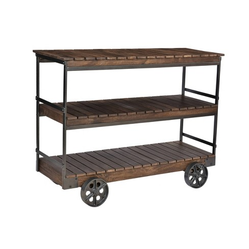 Antique Vintage Kitchen Cart Brown - Treasure Trove - image 1 of 4