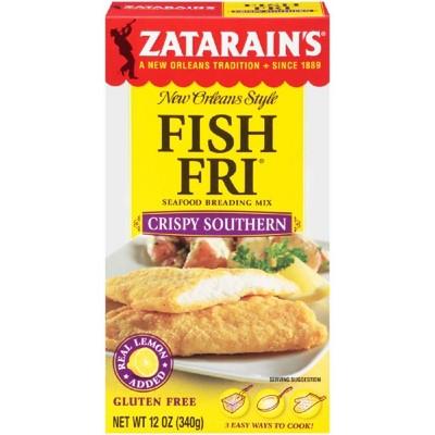 Zatarain's Gluten Free Fish Fri Crispy Southern Seafood Breading Mix - 12oz