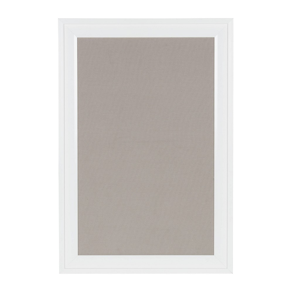 "Image of ""15"""" x 24"""" Bosc Linen Pinboard White - DesignOvation"""