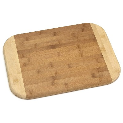 Lipper International Extra Large Versatile Home 2 Toned Wood Reversible Kitchen Carving/Cutting Board, Bamboo