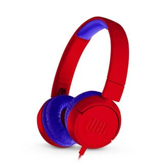 JBL Junior Kids On-Ear Wired Headphones - Red