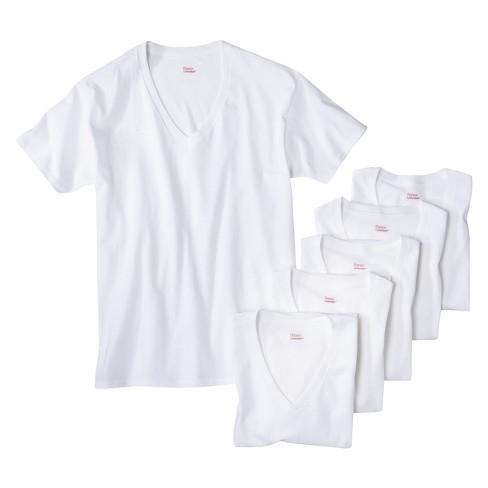 58ce1686668 Hanes Men s 6pk V-Neck T-Shirts With Fresh IQ - White   Target