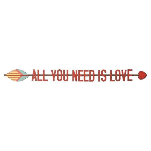 "All You Need Is Love Wall Décor (33""x3"") - 3R Studios - image 1 of 1"