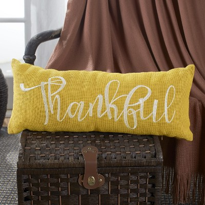 Lakeside Embroidered Burlap Bench Pillow In Harvest Color Hue With Sentimental Phrase : Target