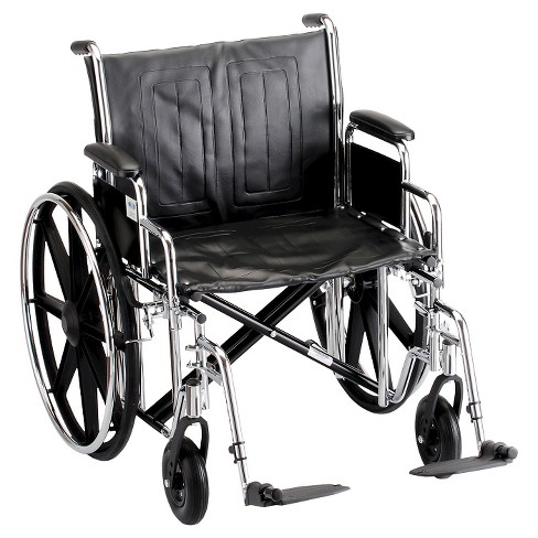 "Nova 22"" Steel Wheelchair with Detachable Desk Arms - Silver/Black - image 1 of 4"