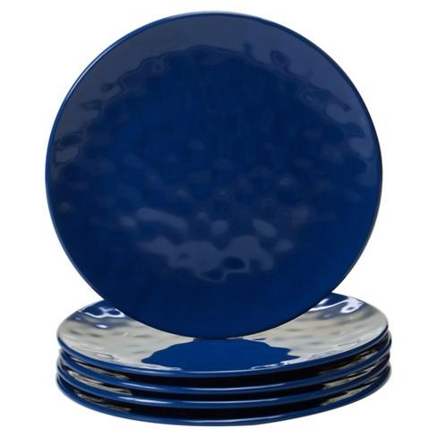 """Certified International Solid Color Melamine Salad Plates 9"""" Cobalt - Set of 6 - image 1 of 2"""