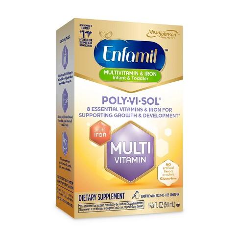 Enfamil Poly-Vi-Sol Multivitamin Dietary Supplement Drops - 1.69oz - image 1 of 4