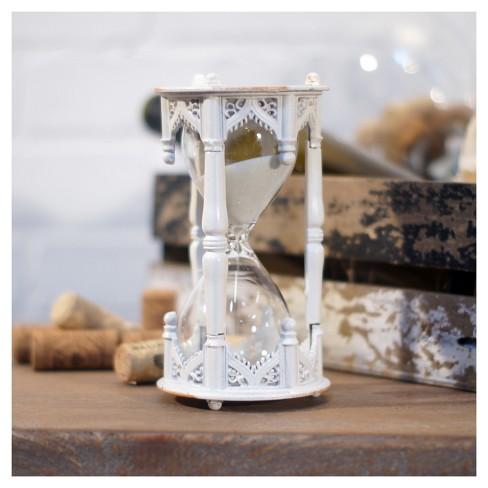 Decorative Hourglass White 6x3 Vip Home Garden Target - Decorative-hourglass