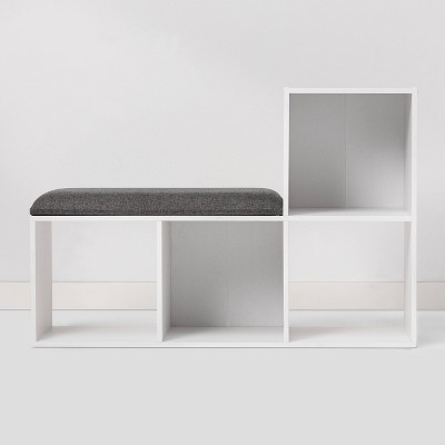 Cube Bookshelf with Bench White - Room Essentials™