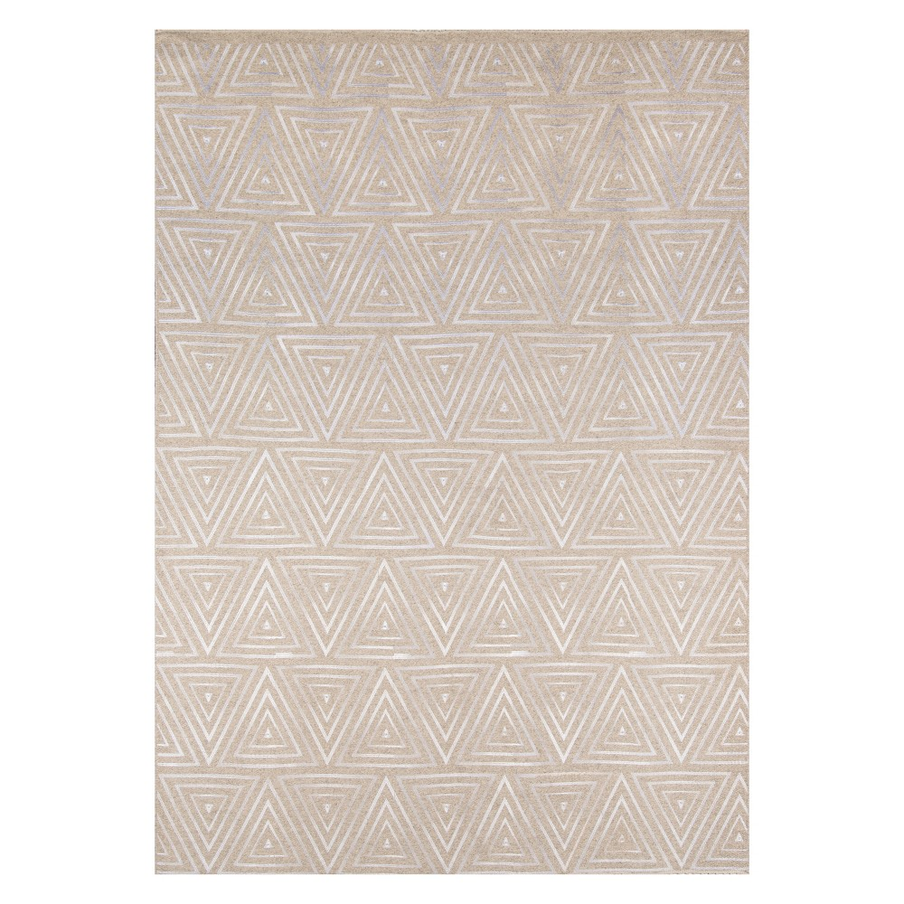 8'X10' Geometric Woven Area Rug Sand - Momeni, White