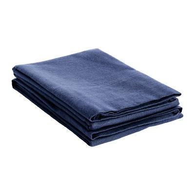 Heavyweight Cotton Flannel Fleur-de-Lis or Solid 2-Piece Pillowcase Set - Blue Nile Mills