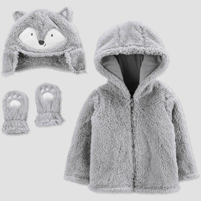 Baby Fox Jacket - Just One You® made by carter's Gray 0-3M