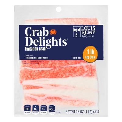 Louis Kemp Crab Delights Imitation Crab Leg Style - 16oz