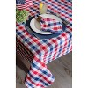 """Red & Blue Check Tablecloth (70""""Round) - Design Imports - image 4 of 4"""