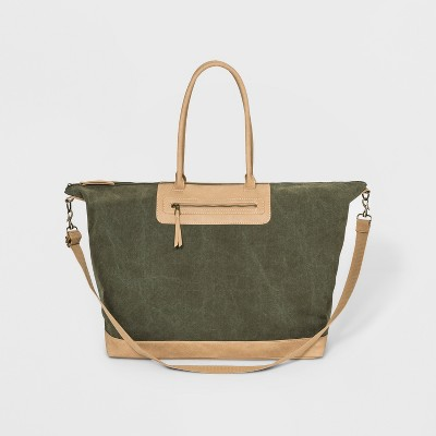 Large Canvas Weekender Bag - Universal Thread™ Green