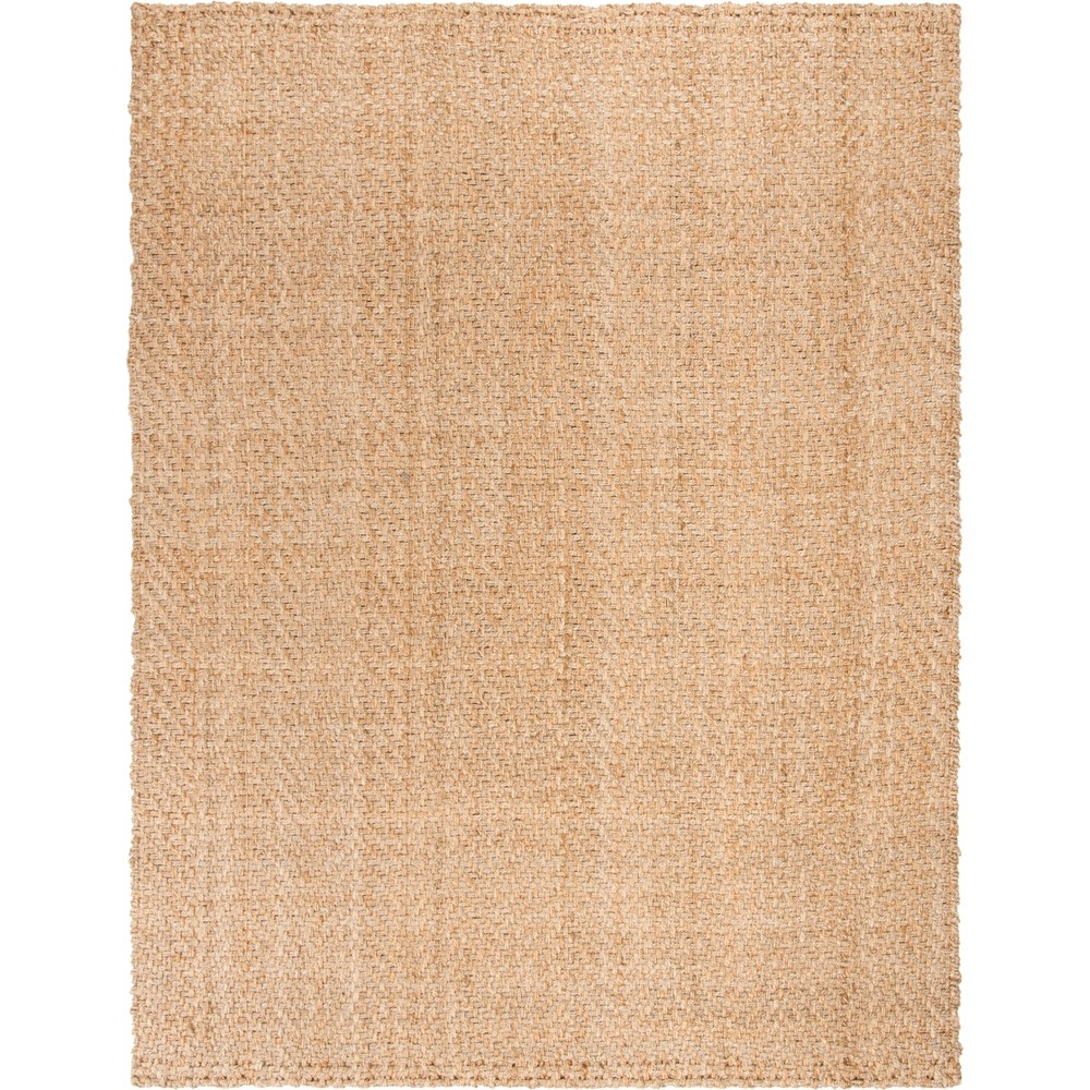 Solid Woven Area Rug Natural