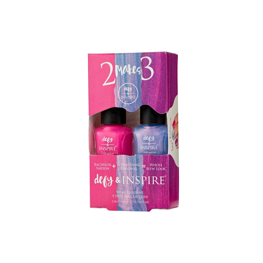 Defy 38 Inspire 8482 Duo Nail Polish Set 2 Makes 3 Bachelor Nation It 39 S Nothing Personal 0 17 Fl Oz
