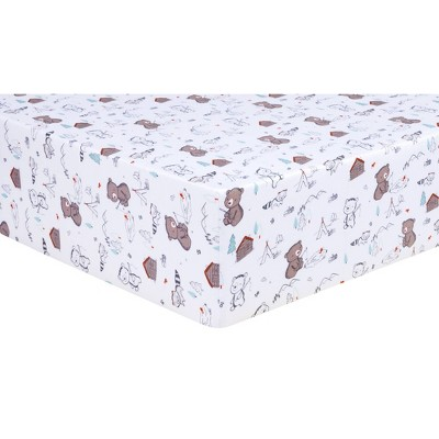 Trend Lab Fitted Crib Sheet - Fishing Bears