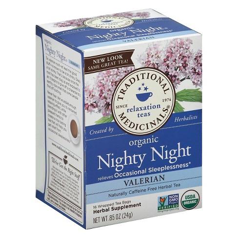Traditional Medicinals Organic Nighty Night Valerian Herbal Tea ... a1a3e7cf1