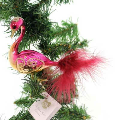 """Golden Bell Collection 4.0"""" Merlot Swan With Gold Clip-On Ornament Bird  -  Tree Ornaments"""
