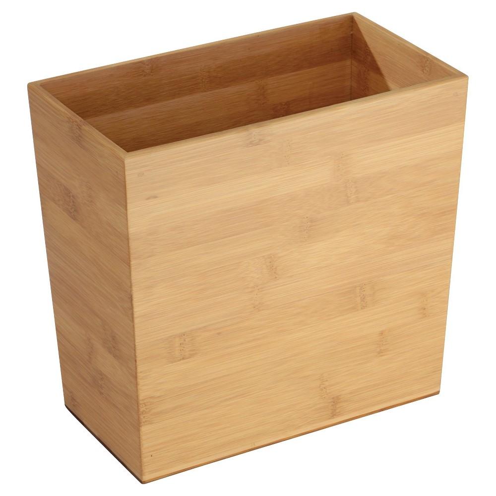 """Image of """"Formbu Rectangular Wastebasket Bamboo10"""""""" - iDESIGN, Brown"""""""