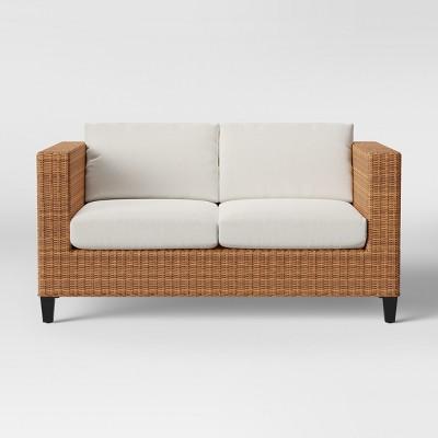 Fullerton Steel Wicker Patio Loveseat Linen - Project 62™