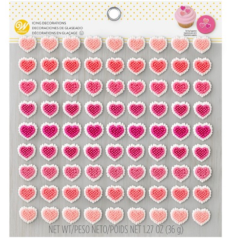 Micro Heart Valentines Icing Decorations - 81ct - Wilton - image 1 of 4