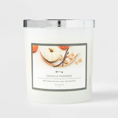 Glass Jar Vanilla Pumpkin Candle - Threshold™