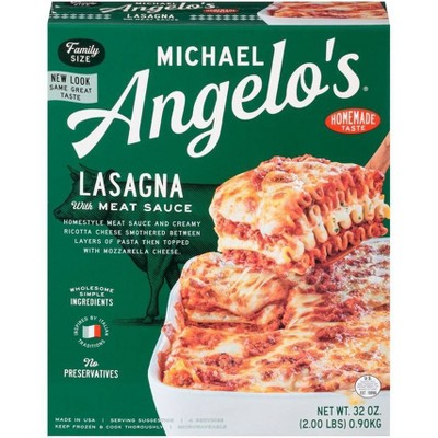 Michael Angelo's Frozen Lasagna with Meat Sauce - 32oz
