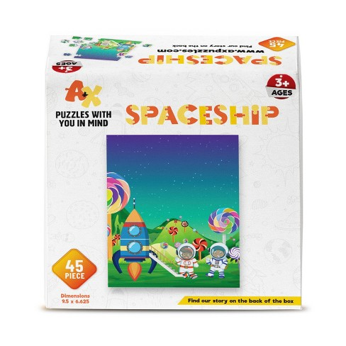 A+X Spaceship Kids' Jigsaw Puzzle - 45pc - image 1 of 2