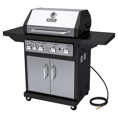 Dyna-Glo 4 Burner Natural Gas Grill with Side Burner