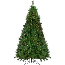 Northlight 9' Prelit Artificial Christmas Tree Canyon Pine Medium - Clear Lights