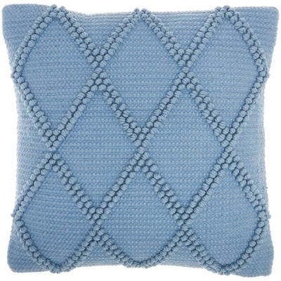 "18""x18"" Life Styles Diamond Lattice Square Throw Pillow Ocean Blue - Mina Victory"