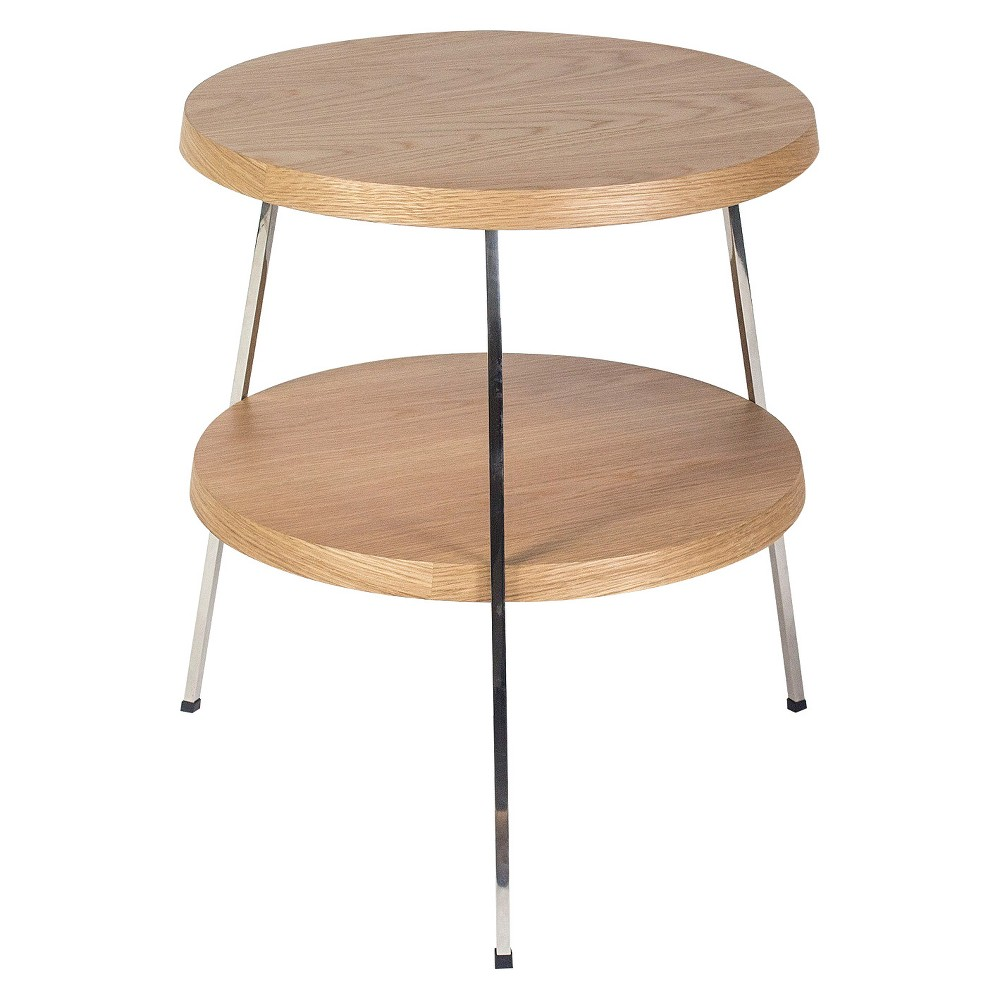 Image of 17.5 Two Top Side Table - White Oak (Brown) - Aeon