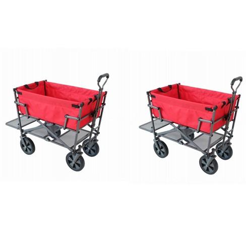 Mac Sports Heavy Duty Double Decker Collapsible Yard Cart Wagon c08a13b993
