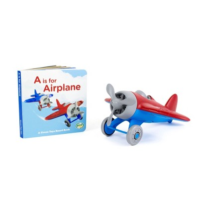 Green Toys Airplane with Board Book