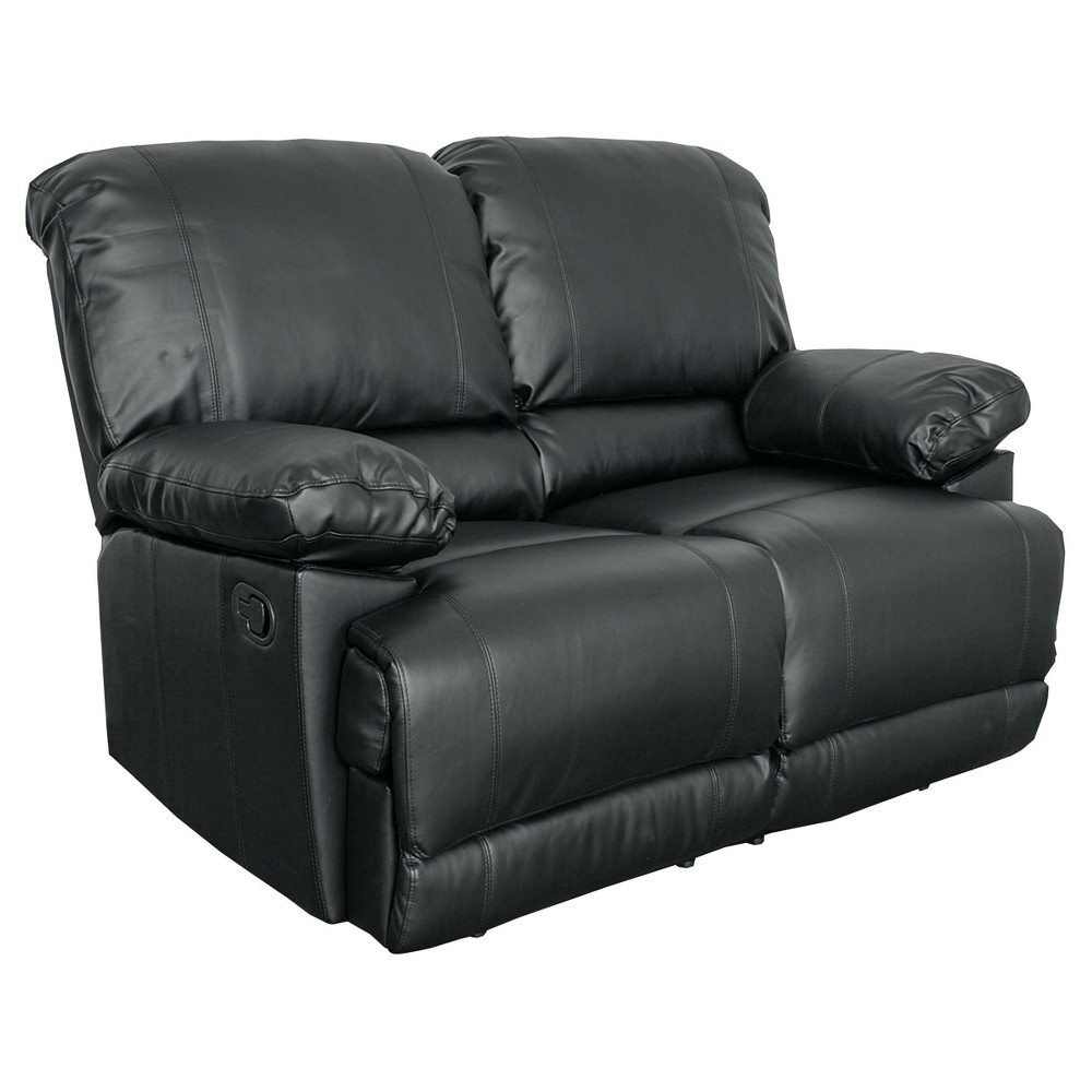 Lea Bonded Leather Reclining Loveseat Corliving