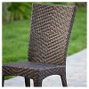 Brooke 7pc Wicker Patio Dining Set - Brown - Christopher Knight Home - image 3 of 4