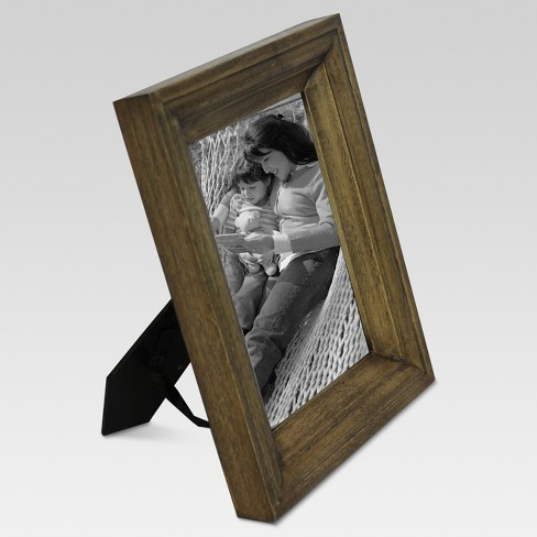 Single Image Frame 5x7 Light Brown Threshold Target