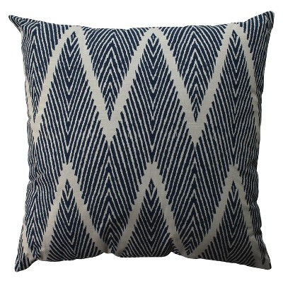 Navy Bali Oversized Throw Pillow 24.5 x24.5  - Pillow Perfect