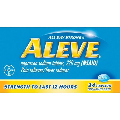 Aleve Pain Reliever & Fever Reducer Caplets - Naproxen Sodium (NSAID)- 24ct