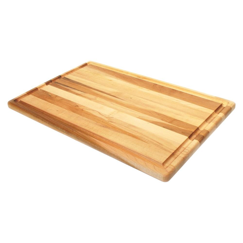 "Image of ""La Baie de l'artisan 12"""" X 18"""" X 0.75"""" Maple Roast Board with Groove"""