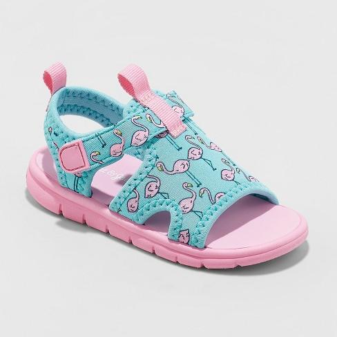 900dbbd53e Toddler Girls' Jayca Flamingo Water Sport Slide Sandals - Cat & Jack™ Mint  : Target